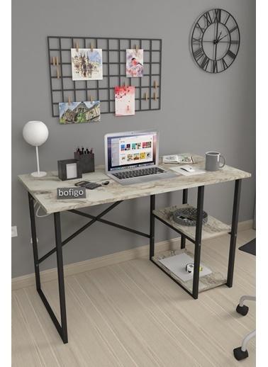 Bofigo Bofigo 60x120 cm 2 Raflı Çalışma Masası Bilgisayar Masası Ofis Ders Yemek Masası Efes Renkli